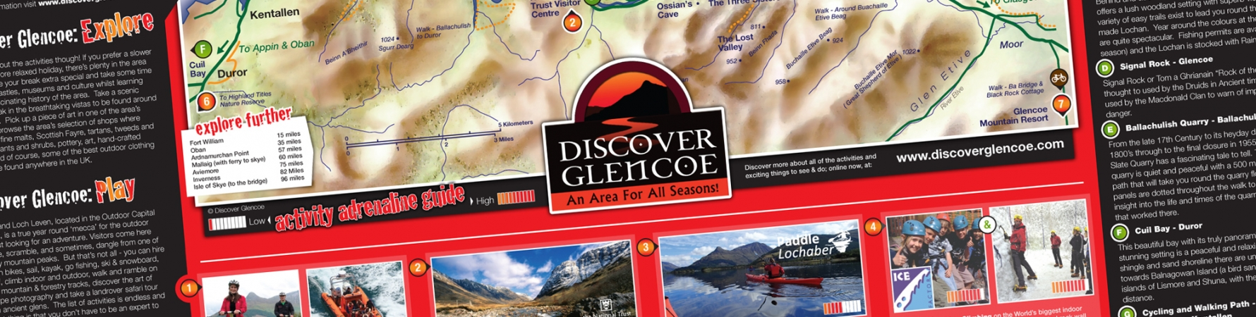 Design for Print - Discover Glencoe Map Design - lamontdesign