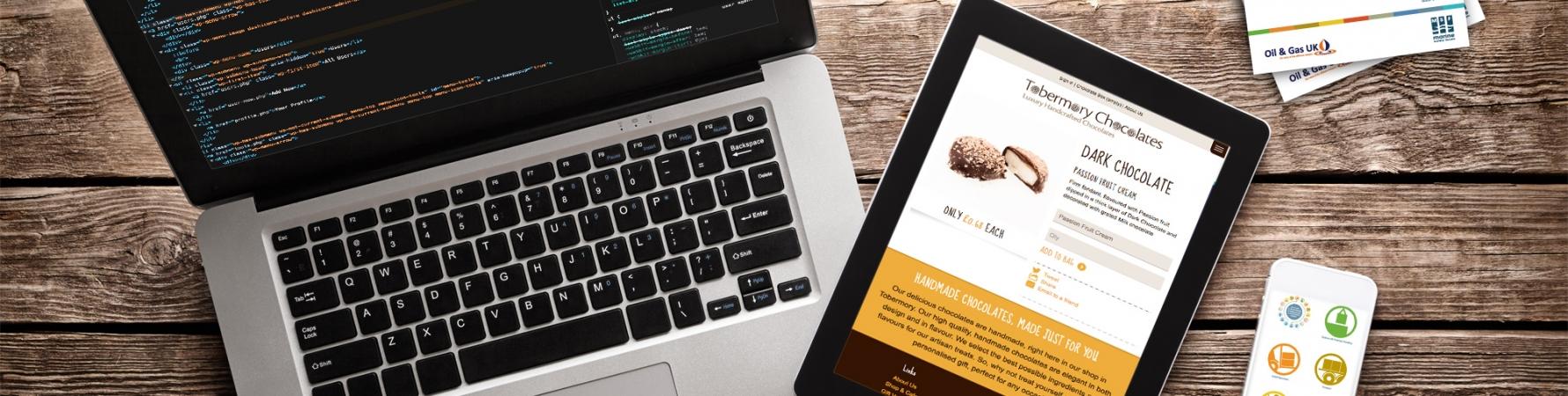 Responsive mobile website design - tobermory chocolates
