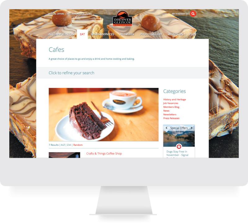 Discover Glencoe - Responsive Website Design - lamontdesign