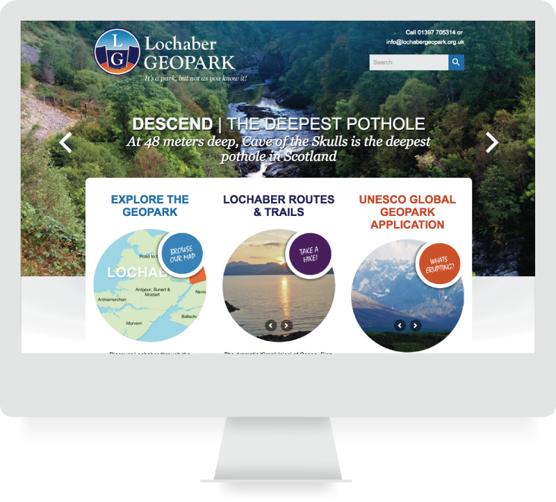 Lochaber Geopark - Responsive Website Design - lamontdesign