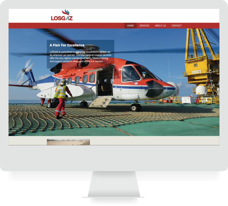 LOSGAZ - Website Design & Logo Design - lamontdesign