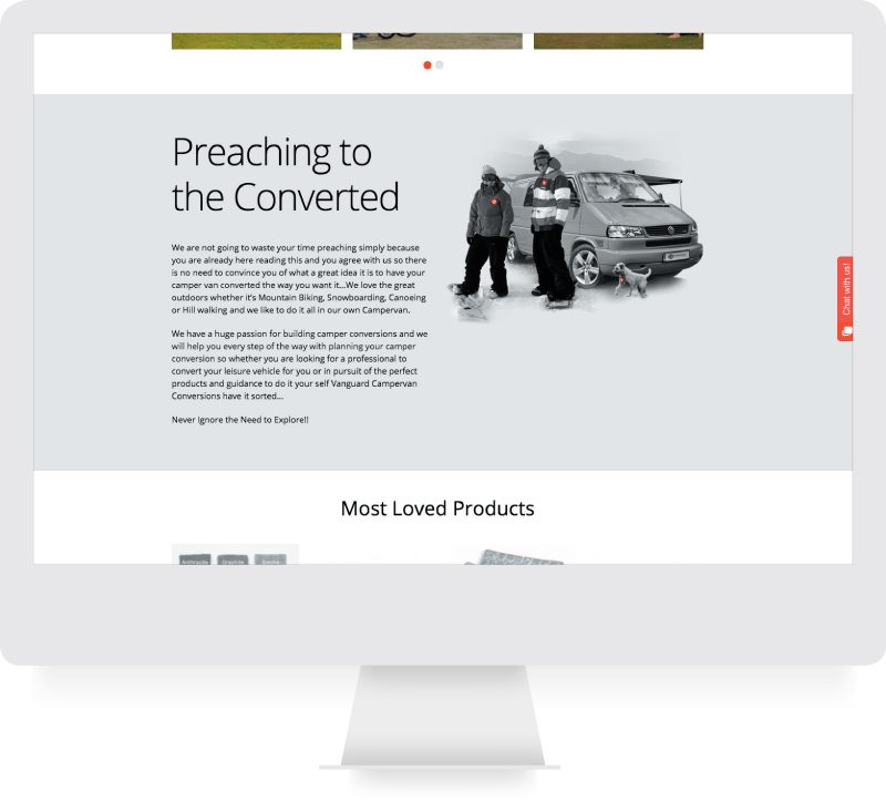 Vanguard Conversions - Responsive Website Design  - lamontdesign
