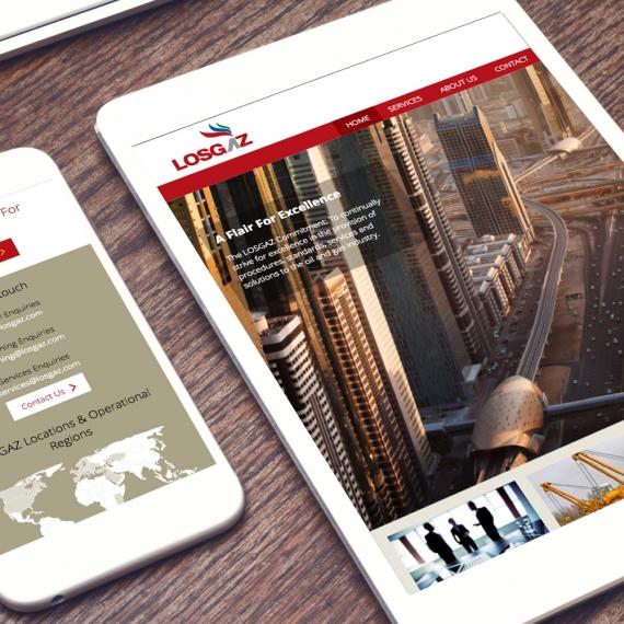 LOSGAZ - responsive Website Design - lamont