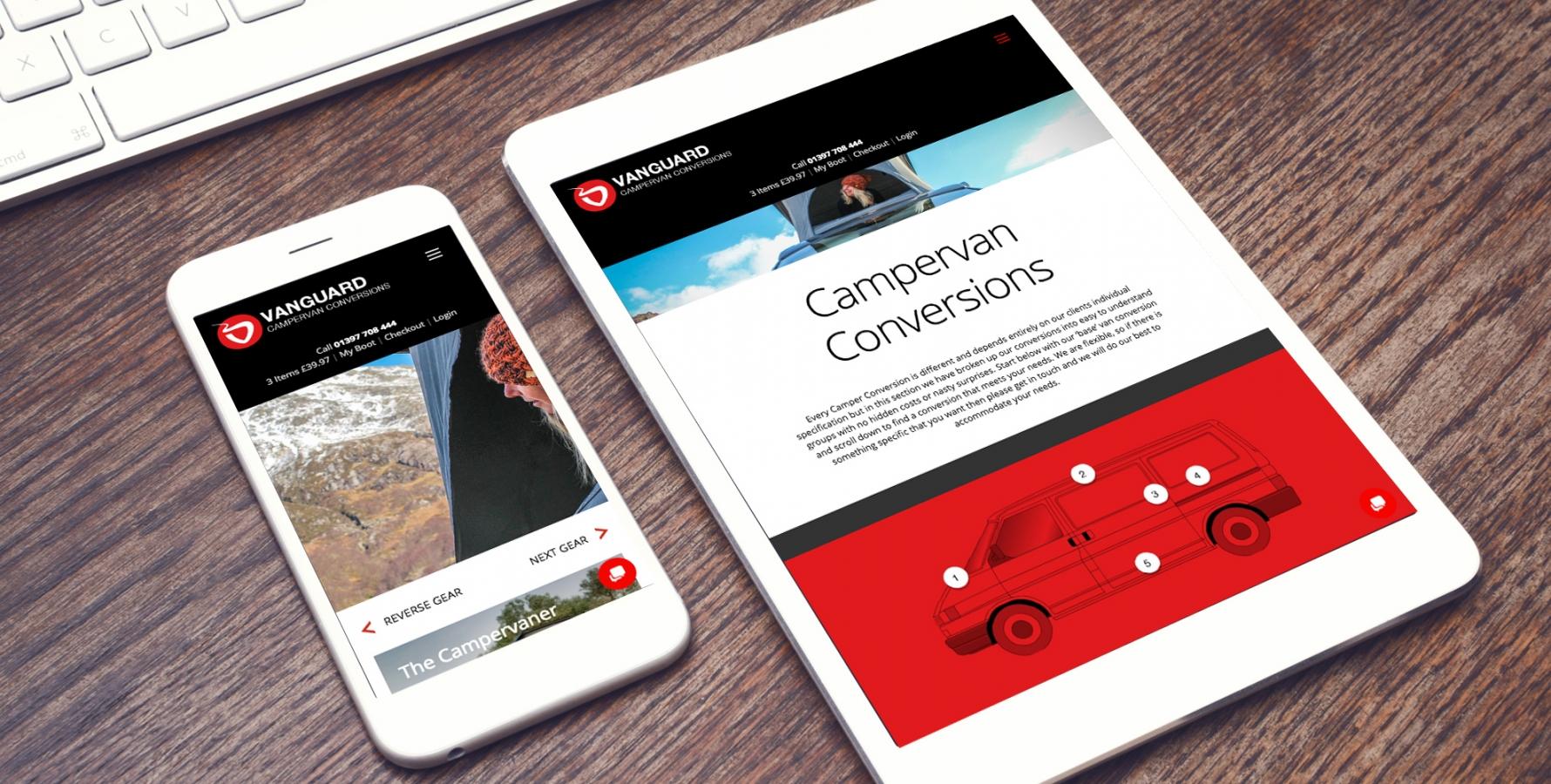 Responsive mobile website design - Vanguard Conversions