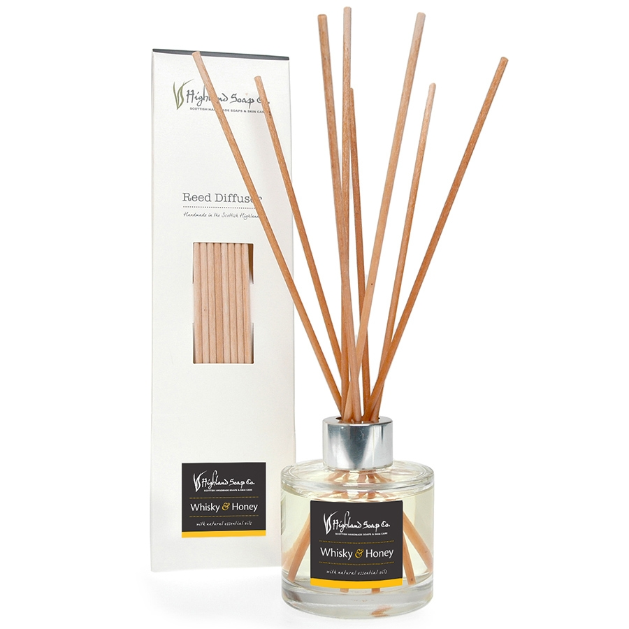 Highland Soap Packaging Design - reed diffuser - lamontdesign